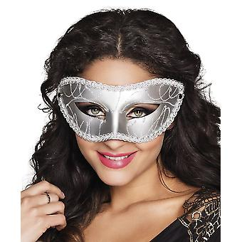 Eye mask Gabriella silver Fancy Dress Accessory