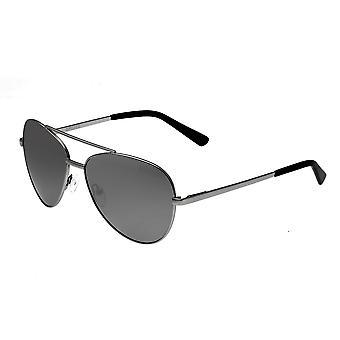 Bertha Bianca polarizada óculos de sol - prata/preto