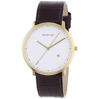 Bering Analog quartz men's watch with leather 11139-534
