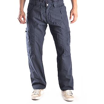 Ermanno Scervino Ezbc108006 Men's Blue Cotton Pants