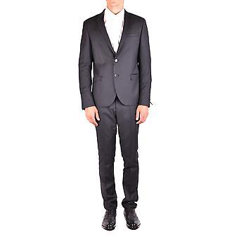Manuel Ritz Ezbc128026 Mannen's Zwart Polyester Pak