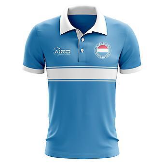 Luxemburg-Konzept-Streifen-Polo-Shirt (Sky)