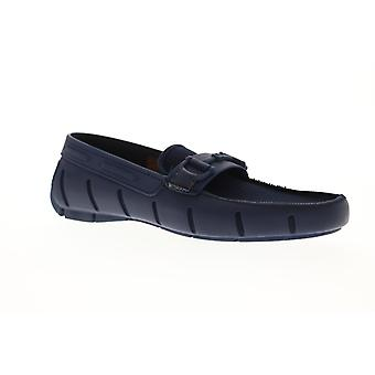 Robert Wayne TF Monaco  Mens Blue Mesh Casual Slip On Loafers Shoes