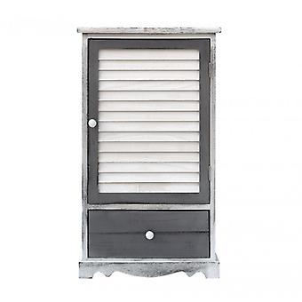Furniture Rebecca Cabinet Bedside 1 Anta 1 Shabby Wood Drawer 73x42x32