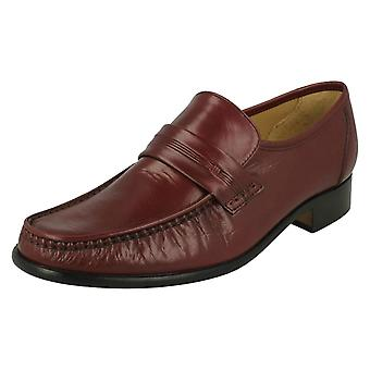 Mens Thomas Blunt Moccasin Formal Shoes Clapham 2