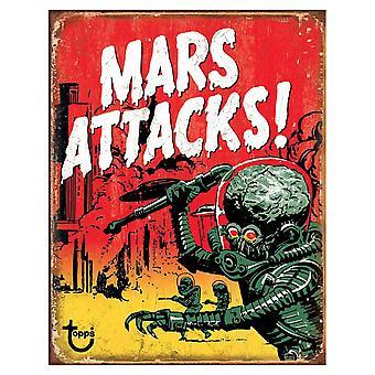 Mars Attacks Retro Tin Sign