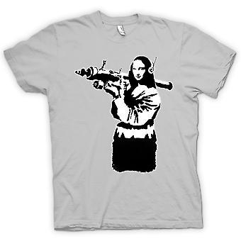 Mens T-shirt - Banksy Graffiti - Mona Lisa