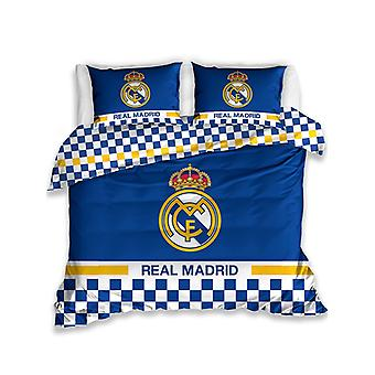 Real Madrid CF Blue Double Duvet Cover Set - European Size