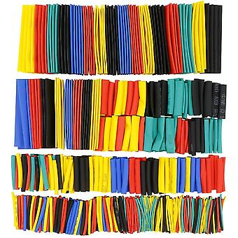 Heat Shrink Tubing 656pcs Ratio 2:1 Insulation Protection Flame Retardant Heat Shrink Tube Sleeving Wrap Car Electrical Cable Wire Kit Set - 6 Color 8