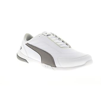 Puma BMW M Motorsport Kart Cat III Mens White Athletic Lace Up Racing Shoes