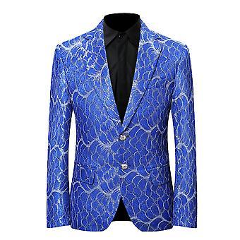 Allthemen Men's Blazer Slim Fit Printed Casual Suit Jacket