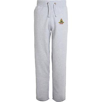 Royal Artillery Gunner - Licensed British Army Embroidered Open Hem Sweatpants / Jogging Bottoms