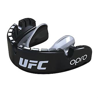 OPro UFC or accolades protège-dents Black Metal/Silver