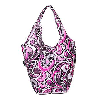 Zeer mooie tassen co. fold away mini shopper-roze Paisley