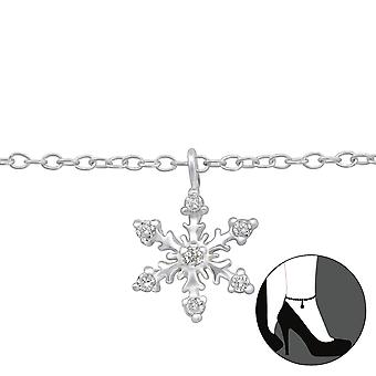 Snowflake - 925 Sterling Silver Anklets - W29969X