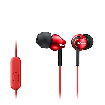 Sony EX110AP Deep Bass In-Ear Headphones With Smartphone Control and Mic Red