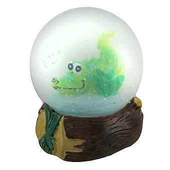 Alex the Alligator Kids Sparkling Snow Water Globe