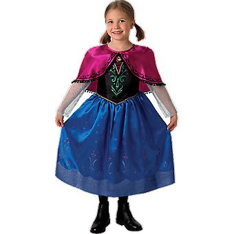 Jenter alder 3-8 år Disney Frozen Anna prinsesse Fancy Dress drakt
