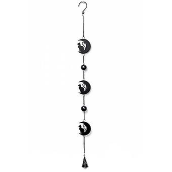 Alchemy Gothic Black Cat & Moon Hanging Decoration