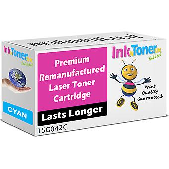 Compatible Lexmark 15g042c Cyan High Capacity Toner Cartridge (15g042c)