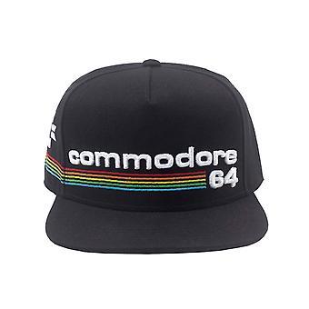 Commodore 64 boné de beisebol Full Rainbow logo novo oficial retro preto SnapBack