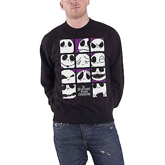 The Nightmare Before Christmas Sweatshirt Many Faces Of Jack Official Mens