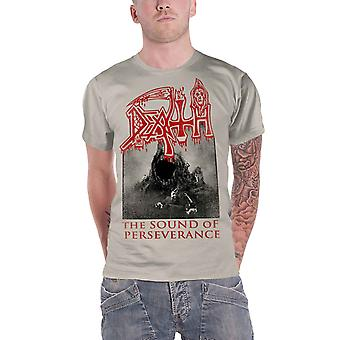 Death T Shirt The Sound Of Perseverance Band Logo new Official Mens Off White