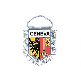 Flag Mini Flag Country Car Decoration Souvenir Blason Geneve Switzerland