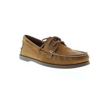 Florsheim Nevis  Mens Tan Nubuck Casual Lace Up Boat Shoes