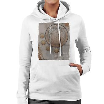 The Crystal Maze Second Good Feeling Rust Panel Women's Hooded Sweatshirt