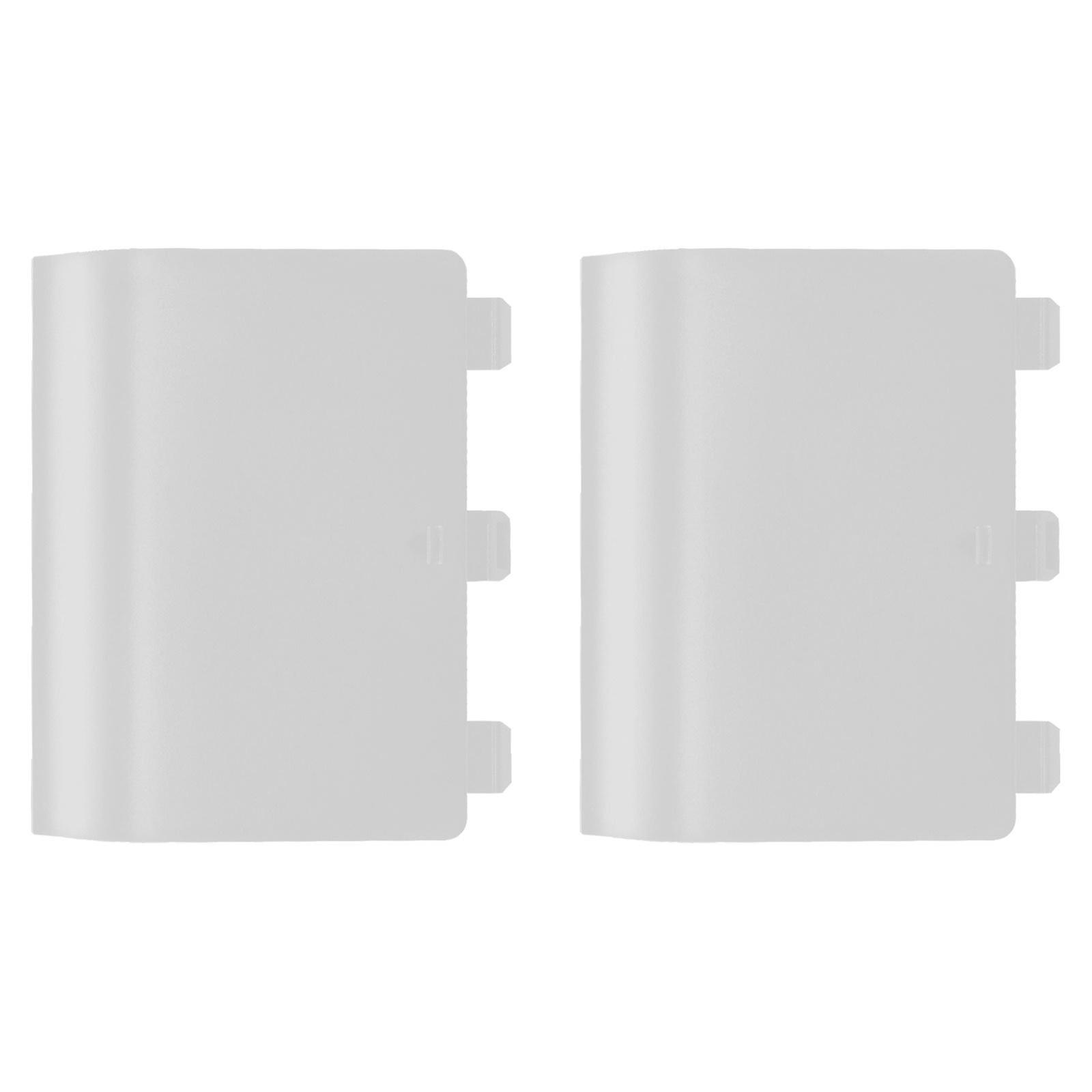 Replacement battery back cover holder for white microsoft xbox one controllers & 2 pack white