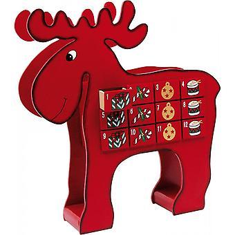 Small Foot Wooden Advent Calendar Reindeer Or Elk/Moose