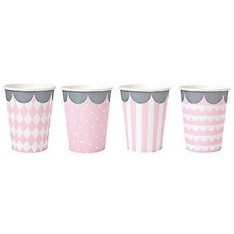 Cardboard mug Jabadabado 8-Pac light pink
