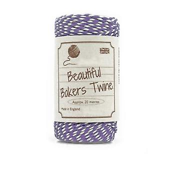 20m Violet Purple Natural Bakers Twine for Crafts & Gift Wrapping