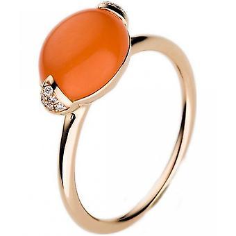 Gemstone Ring Diamonds 0.04 ct. Moonstone 3.88 ct. Size 54