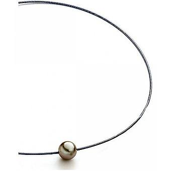 Luna-Pearls Beads Choker TahitiPerlen 11-12 mm Steel 3001239