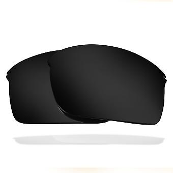 Replacement Lenses for Oakley Wiretap Sunglasses Dark Black Iridium Anti-Scratch Anti-Glare UV400 by SeekOptics