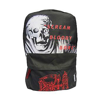 Death Backpack Bag Scream Bloody Gore Band Logo new Official Black
