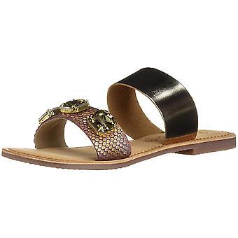 Callisto Womens wrigley Open Toe Casual Slide Sandals