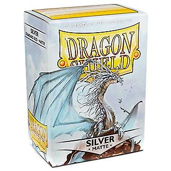 Dragon Shield Matte - Silver 100ct. in scatola (Pacchetto di 10)
