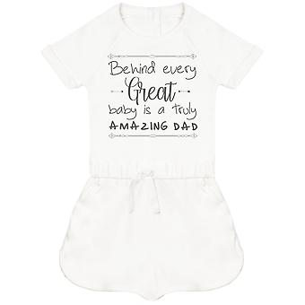 Behind Every Great Baby Is A Truly Amazing Dad Baby Playsuit
