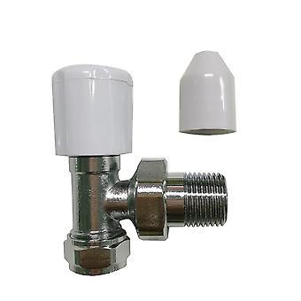 Verchroomde schuine radiator kraan-15mm