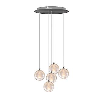 Ceiling Lights Pendant Light Living Room Lamp Chandelier Five Pendant Round Canopy