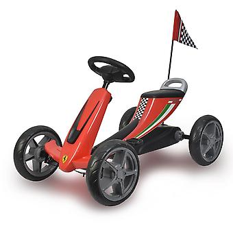 Licensed Ferrari Kids Pedal Go Kart Red
