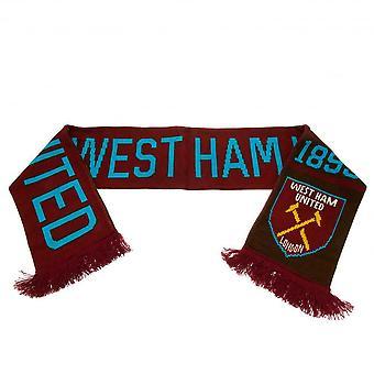 West Ham FC Football officiel Jacquard Nero Design écharpe