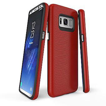 لسامسونج غالاكسي S8 القضية، درع الأحمر واقية غطاء الهاتف ضئيلة دائم