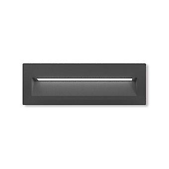 LED recessed wall-mounted luminaire Inaki IP54 6W 225x75.5 mm dark grey 10811
