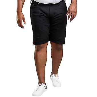 Duke D555 Homme Gilbert Big Tall King Size Stretch Canvas Shorts - Noir