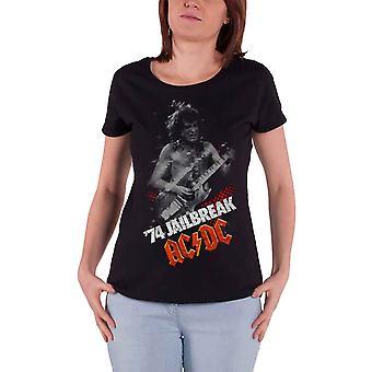 AC/DC T camisa Jailbreak 74 logo de banda nova oficial Womens Skinny Fit Black