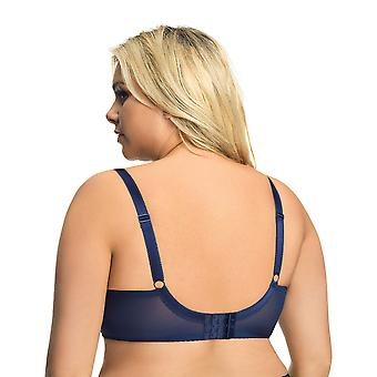 Gorsenia K560 Dames's Monique Navy Blue Non-Padded Underwired Full Cup Bh